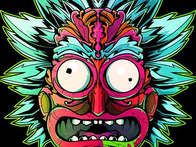 Rick Sanchez rick sanchez rick and morty cartoon vector illustration
