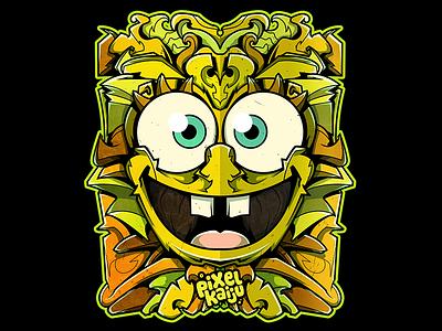 Spongebob x Pixelkaiju nickelodeon spongebob cartoon vector illustration