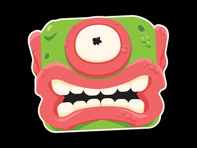 Monster illustration toy