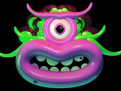 3D test cyclops character mask 3d