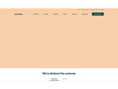 Zendesk home photography design digital webdesign website web homepage home zendesk