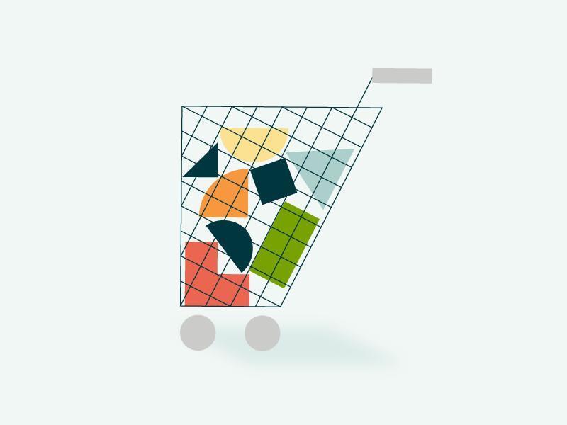 Cart bundle shapes shape cart shopping