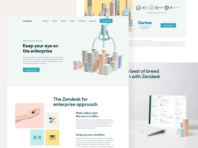 Zendesk for enterprise design photography support solution enterprise website webpage web