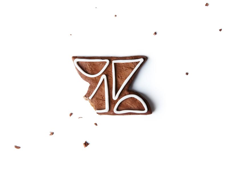 Season's eatings crumbs gingerbread icing logo holiday christmas cookie
