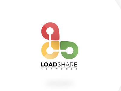 Loadshare Branding diligent branding process multi colors logo