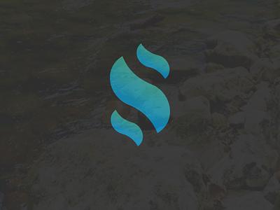 S simple kanabo streem monogram logo s letter