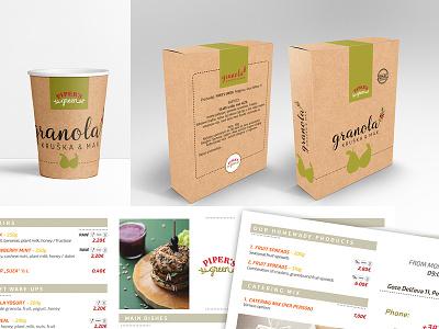 Pipers food health peach box design logo granola packaging pack