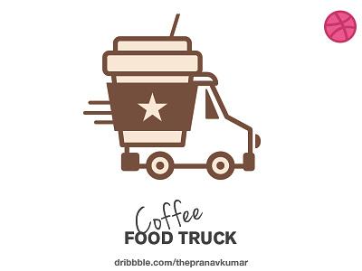Coffee Food Truck branding logo