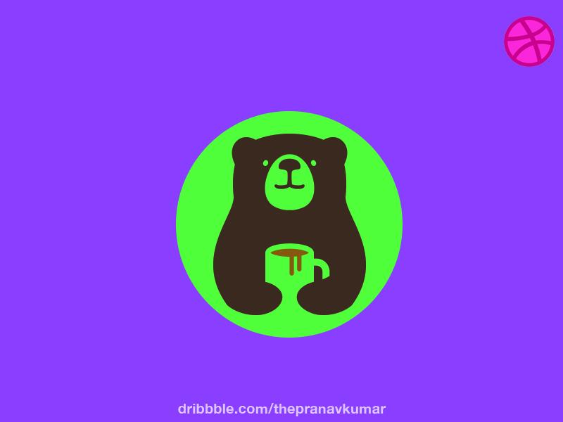 Coffee Bear Logo negativespace branding logo