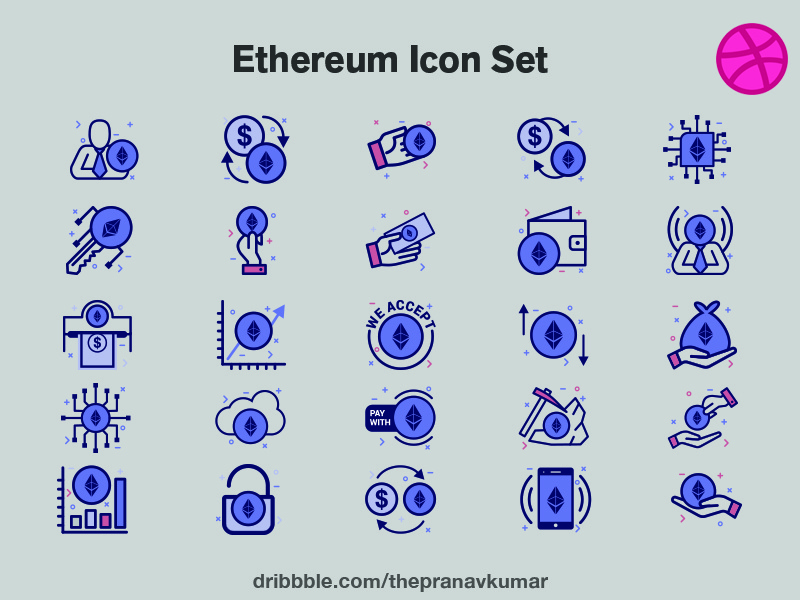 Ethereum Icon Set crypto icon ethereum