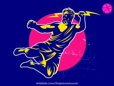 Zeus GreekGod illustration