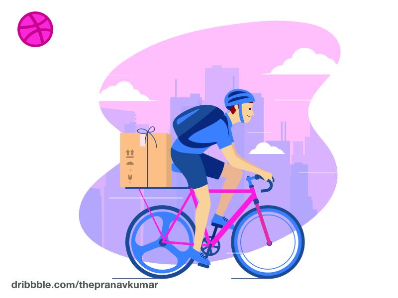 Bike Delivery Concept bike delivery illustration