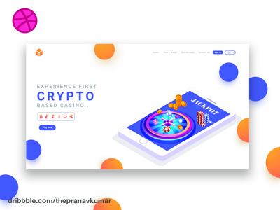Crypto Casino Landing Page
