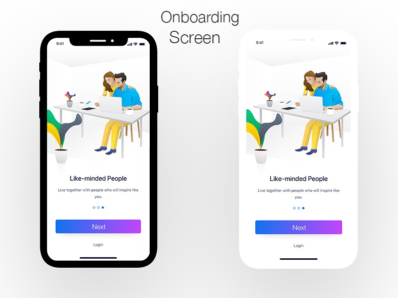 Onboardding Screen 3 userinterface ui brand identity illustration