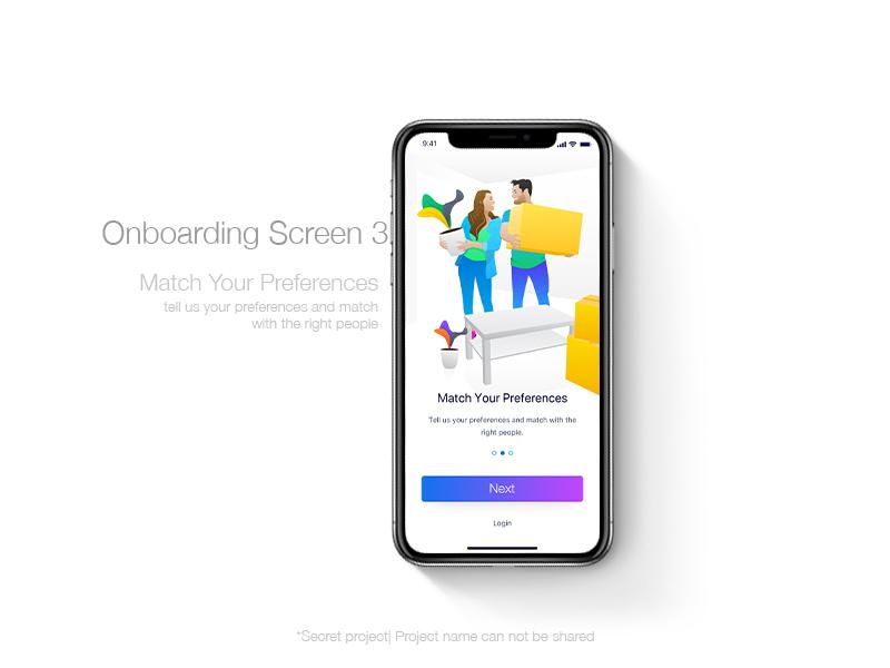 Onbaording 3 user interface ui illustration