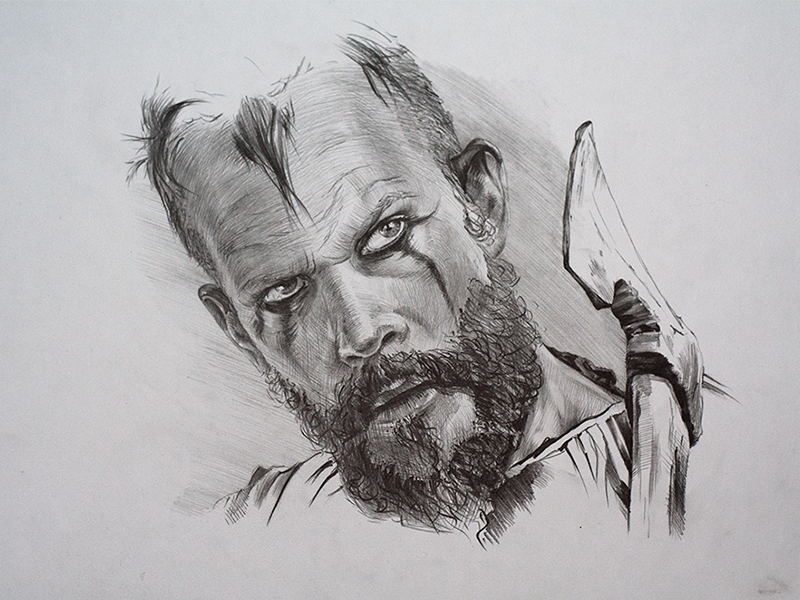 Floki by lenkin dribbble for Viking pencils
