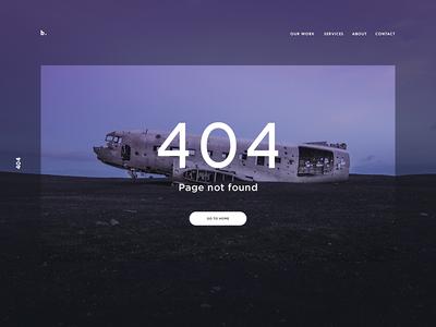 Day 008 - 404 page #dailyui landing 404 minimal site inspiration web-design clean 404 page design ux ui dailyui