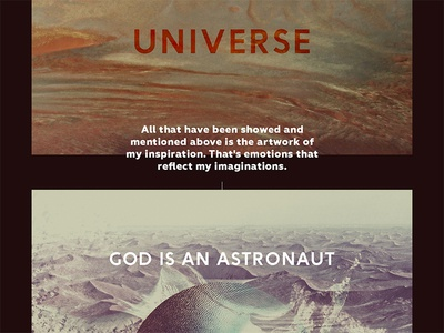 God Is An Astronaut - My Own Universe minimal typography texture space abstarct music graphic design cover cd inspiration