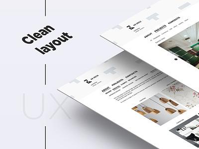 Web Design for Ar Deco scandinavic branding logo design identity design minimal white clen layout ux ui web-design