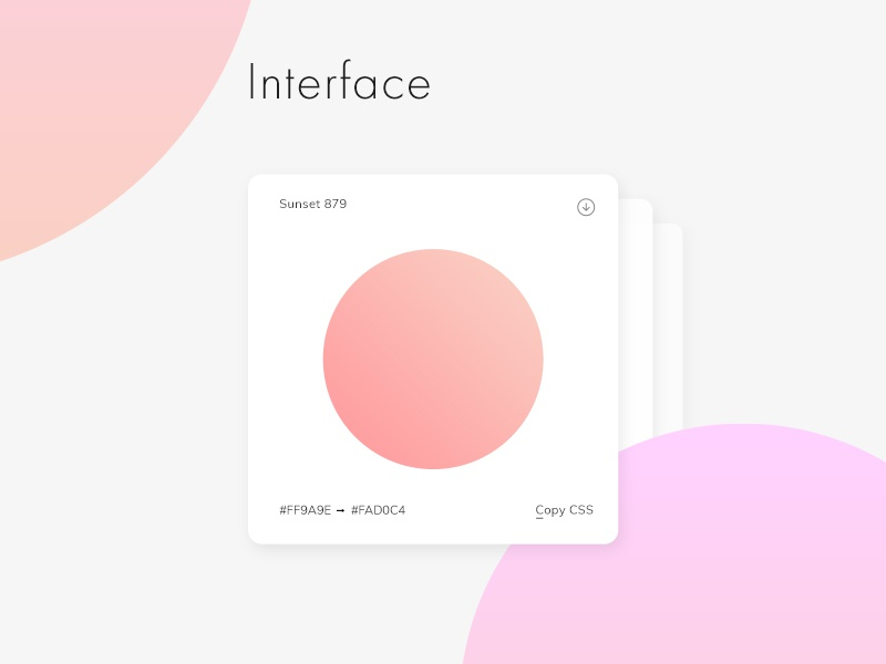 Web Gradients Interface