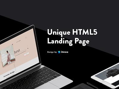 Brut - One Page Portfolio 💫 animation web design sketch psd download typography grid portfolio for designers ui inspiration landing page transitions wordpress theme
