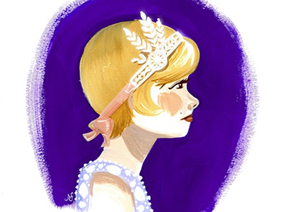 Daisy Buchanan the great gatsby illustration gouache daisy buchanan portraiture