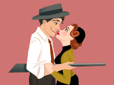 Bonnie and Clyde illustration