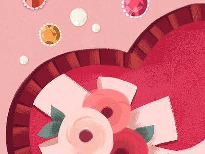 Valentine's Day valentine digital illustration painting