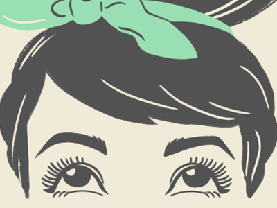 Cheeky Hair illustration character graphic