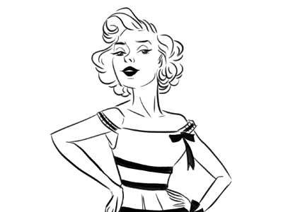 Fashion Sketch illustration fashion