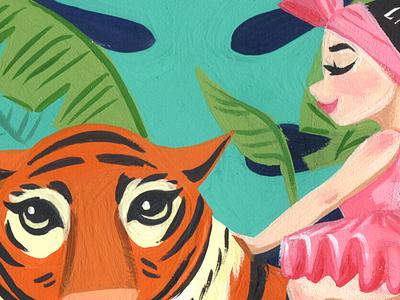 The Tiger Rider childrens books ballerina animal gouache