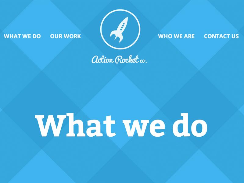 Action Rocket website actionrocket web design flat design