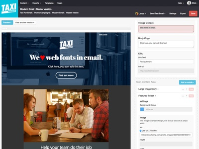 Email Editor Interface