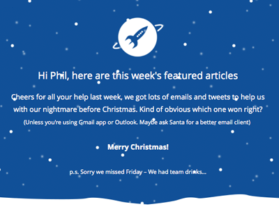 #EmailWeekly CSS Snow newsletter email development email email marketing email design emaildesign