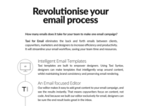 Revolutionise your email process - Taxi for Email Ad