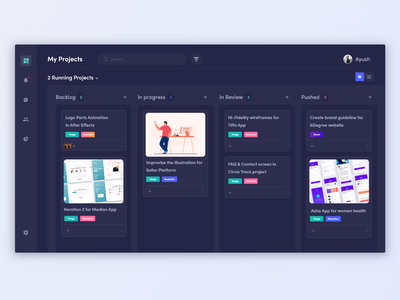 Dashone Home - One work dashboard dashboard design product design work tracking inspiration backlog text chatbot chatbox dark theme dark mode dark app dark ui dashboard ui dark design dashboard