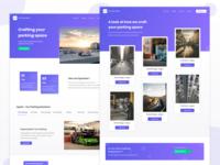 Landing Page Design for a Smart car parking firm.
