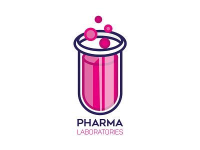 Pharma Laboratories science icon vector branding logo pharma