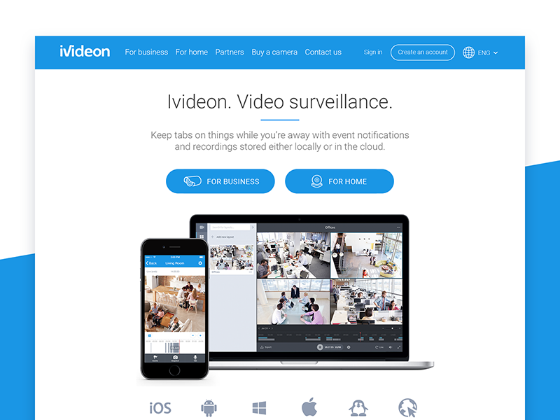 Ivideon Main Page by Maria Babak on Dribbble