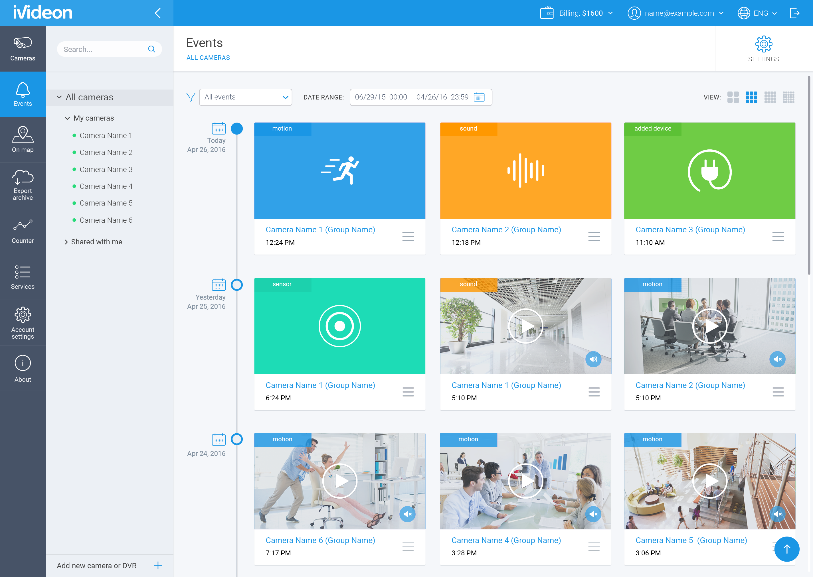 Dribbble - ivideon_dashboard_events_final png by Maria Babak