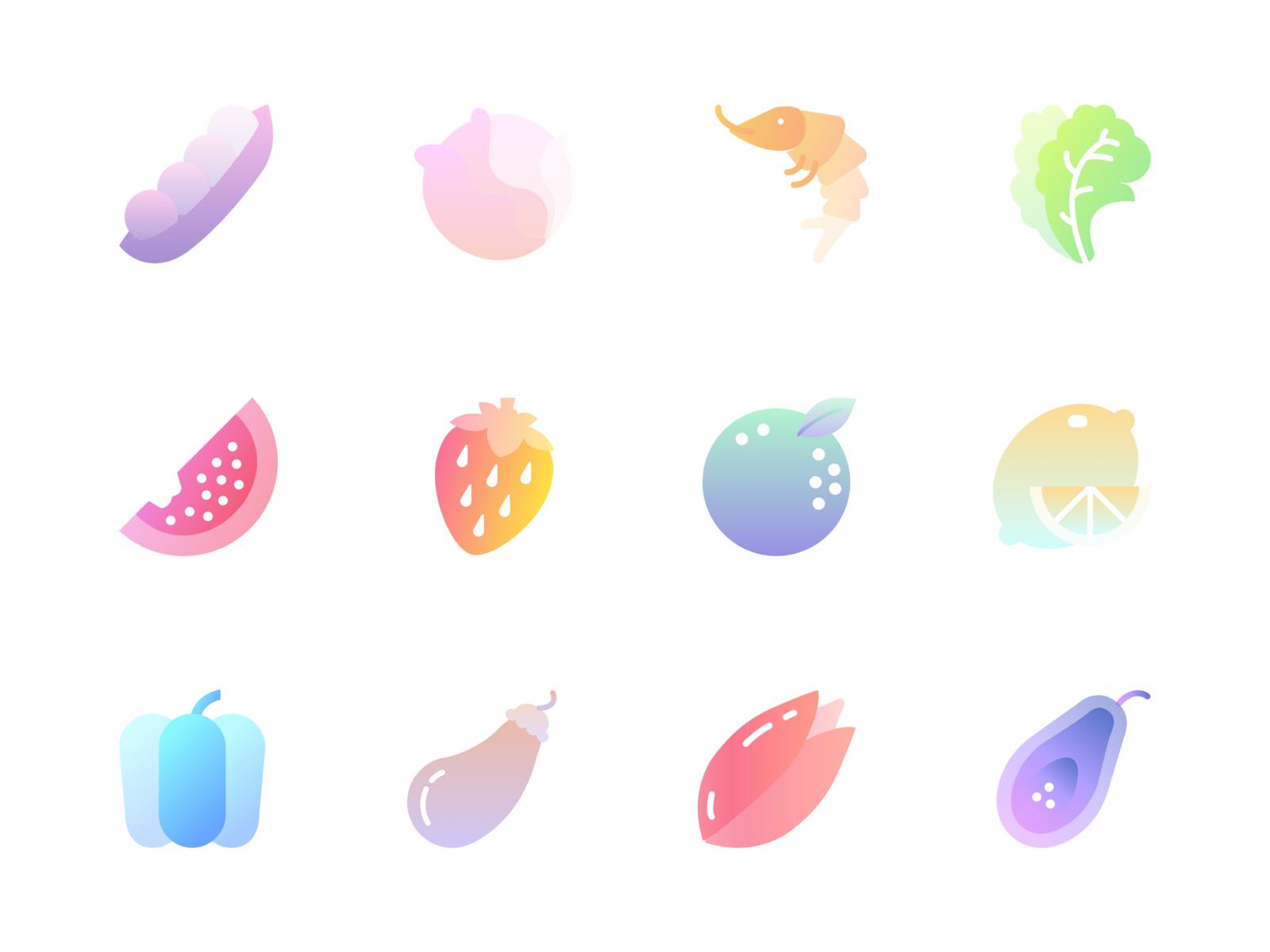 Fruits Gradients Freebie [Sketch]