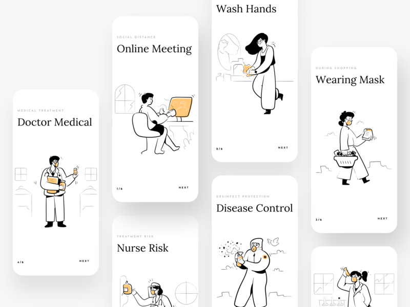 Covid 19 Awareness ios branding brand identity work from home work in progress brand design app colorful remote work stay safe stay home awareness covid 19 design illustration minimal clean typography ux ui