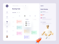 Dashboard Meeting management app dashboard template gradient vector illustration landing page ux ui web application design web application web app typography meeting app meeting dashboard app dashboard card ui calendar booking app analytics