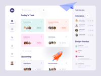 Task Management Dashboard web app web application design product design branding 3d illustration 3d animation illustration typography ux ui meeting app meeting room calendar dashboard ui dashboard design dashboard app schedule app schedule task management task manager