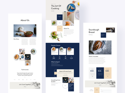 Cooking School Template Design for Divi online cooking school wordpress theme wordpress elegantthemes ux ui website typography template divi recipe card recipe book recipe app recipes recipe cooking logo cooking class cooking app cooking school cooking