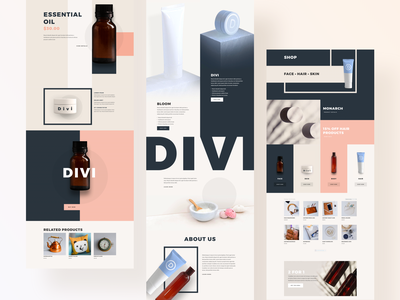 Beauty Product Template Design for Divi minimal clean product design product page production products product wordpress typography illustration divi template website ux ui beauty product beauty logo beauty salon beauty app beauty