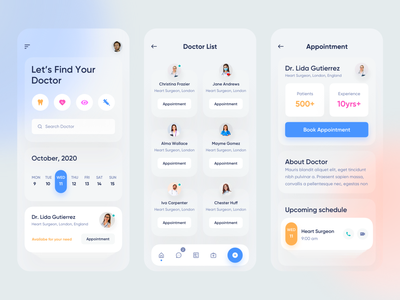 Medical Mobile App clinic hospital medicine patients patient app doctor appointment doctor app health app healthcare health medical medical design medical care medical app mobile design mobile app mobile ui application app design app