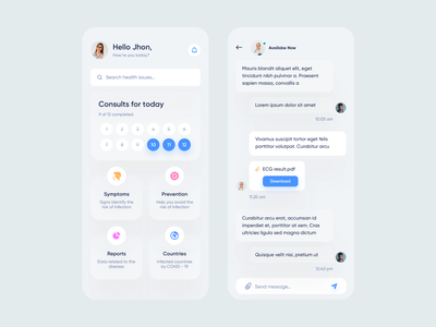 Medical Mobile App ios product design mobile app mobile ui medical design medical care medical app medicine app medicine medical clinic hospital health app healthcare health doctor appointment doctor app doctor patient app patient