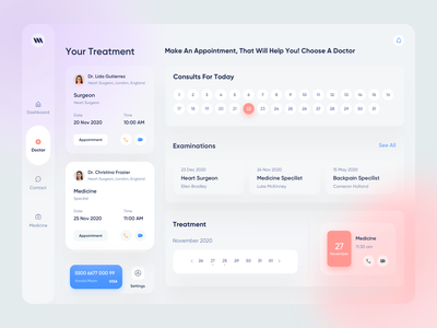 Medical Web App doctor appointment blur blurred background productdesign patient app healthcare health app medicine medical hospital medical design web app web application design web application dashboard design dashboard ui dashboard app product design app design app