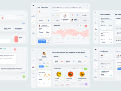 Medical Web App clean ui gradient design app app design clinic hospital app health app health medicine patient app doctor appointment doctor app medical care medical app web apps web application design web application web app design web app product design